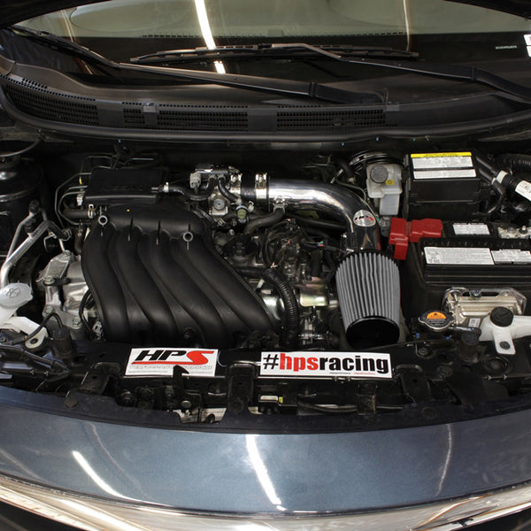 HPS Performance Shortram Cold Air Intake Kit Installed Nissan 2014-2016 Versa Note 1.6L 827-532