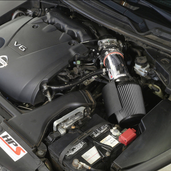 HPS Performance Shortram Cold Air Intake Kit Installed Nissan 2009-2017 Maxima V6 3.5L 827-533