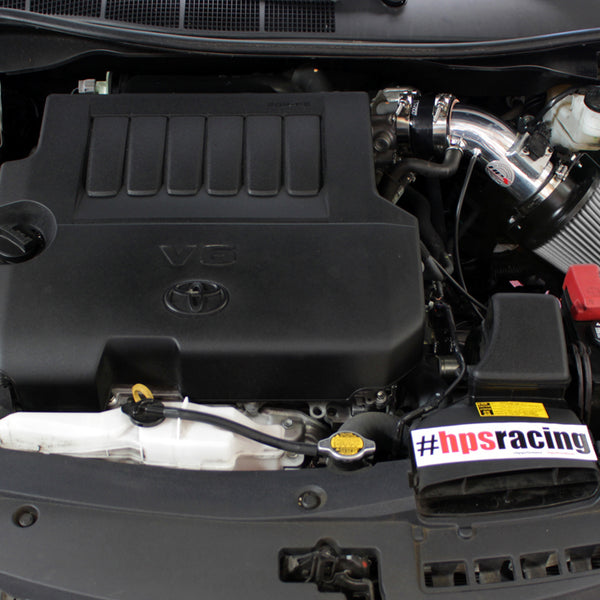 HPS Performance Shortram Cold Air Intake Kit Installed Toyota 2009-2016 Venza 3.5L V6 827-534