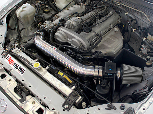 HPS Performance Shortram Cold Air Intake Kit Installed Mazda 1999-2005 Miata 1.8L Non Turbo 827-537
