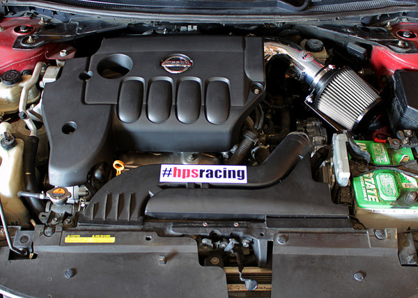 HPS Performance Shortram Cold Air Intake Kit Installed Nissan 2013 Altima Coupe 2.5L 4Cyl 827-546