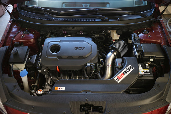 HPS Performance Shortram Cold Air Intake Kit Installed Kia 2016-2018 Optima 2.4L Non Turbo 827-549