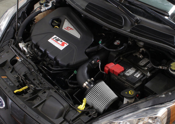 HPS Performance Shortram Cold Air Intake Kit Installed Ford 2014-2015 Fiesta ST 1.6L Turbo 827-553