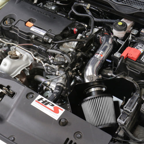 HPS Performance Shortram Cold Air Intake Kit Installed Honda 2016-2019 Civic 2.0L Non Turbo 827-599