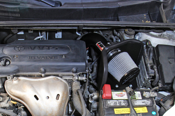 HPS Performance Shortram Cold Air Intake Kit Installed Toyota 2009-2013 Matrix 2.4L 827-696