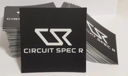 "Circuit Spec R *CSR* Logo Stickers - 3x3"" Matte Black"