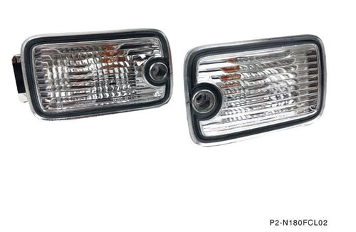 Phase 2 Motortrend (P2M) Front Position Marker Lights Set Dual Post LED - Nissan 180sx 240sx Type X (1989-1994)
