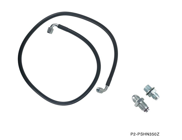 Phase 2 Motortrend (P2M) High Pressure Power Steering Hose - Nissan 350z Z33 (2003-2009)