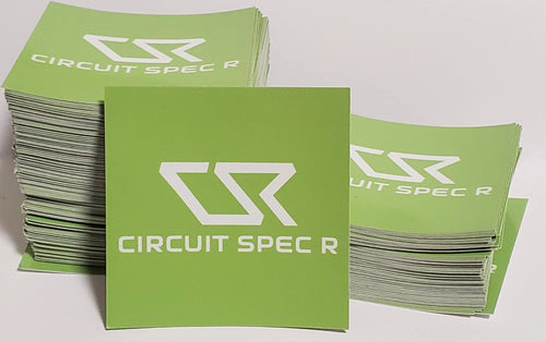 "Circuit Spec R *CSR* Logo Stickers - 3x3"" Gloss Lime Green"