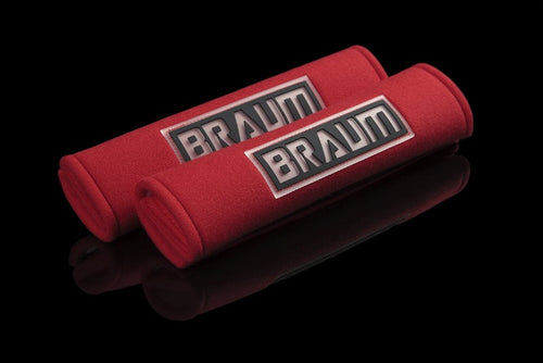 BRAUM Racing Universal Seat Belt Harness Pad Velcro Release - Red