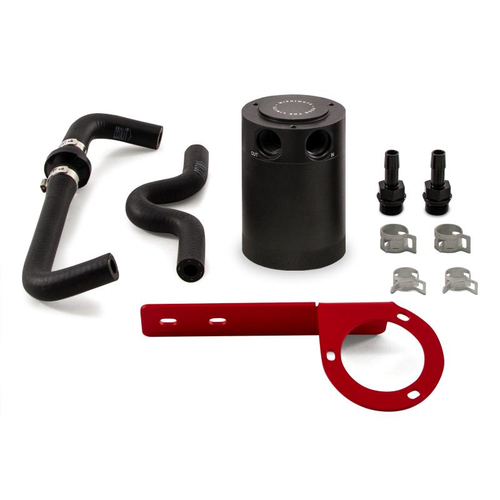 Mishimoto Performance Baffled Oil Catch Can Kit w/ Red Bracket - Honda Civic Type R FK8 (2017+)
