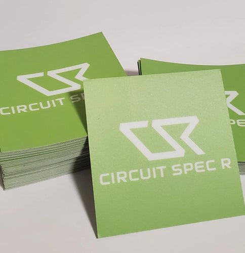 "Circuit Spec R *CSR* Logo Stickers - 3x3"" Matte Lime Green"