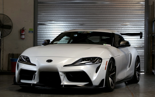 APR Performance Carbon Fiber Front Wind Splitter w/ Support Rods - Toyota Supra A90 (2019+)