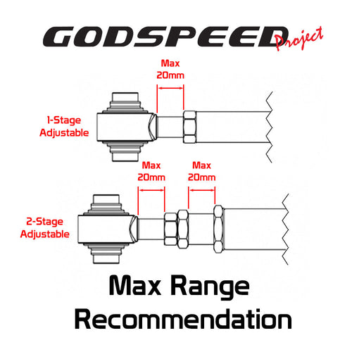 GodSpeed Project (GSP) Rear Upper Camber Control Arms Set - Dodge Charger (2006-2020)
