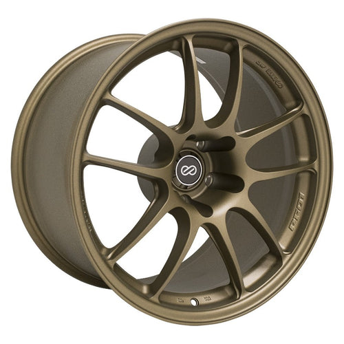 Enkei PF01 18x9.5 / 5x114.3 / 15mm Offset - Titanium Gold Wheel
