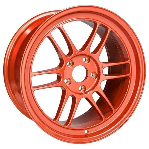 Enkei RPF1 17x9 / 5x114.3 / 35mm Offset - Orange Wheel