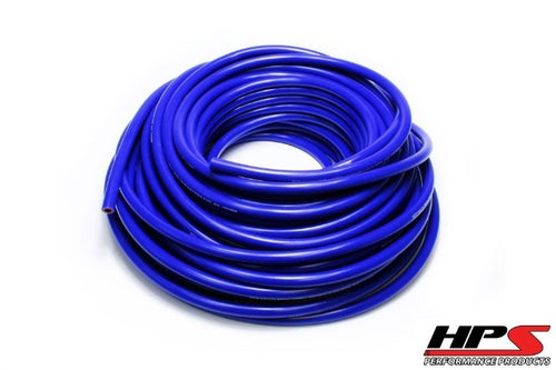"1 Feet HPS 1/8"" 3mm High Temp Reinforce Silicone Heater Hose Tube Coolant - Blue"
