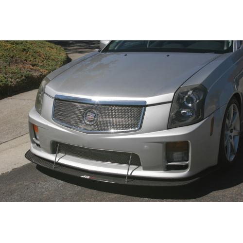 APR Performance Carbon Fiber Front Wind Splitter w/ Rods - Cadillac CTS-V (2004-2007)