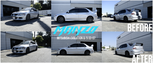 Manzo MZ Series Adjustable Coilovers - Mitsubishi Lancer Evolution EVO 8 / 9 (2003-2007)