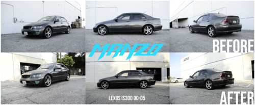 Manzo MZ Series Adjustable Coilovers - Lexus IS300 (2000-2005)