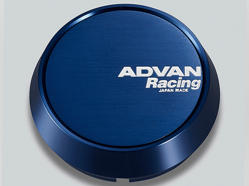 Advan Racing Center Cap - 73MM Bore - Middle / Medium Type - Anodized Blue Alumite