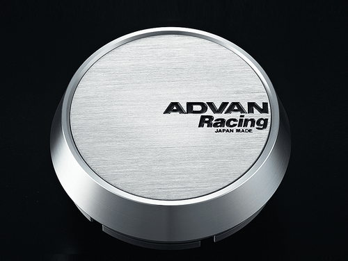 Advan Racing Center Cap - 63MM Bore - Middle / Medium Type - Silver Alumite