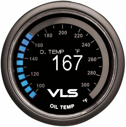 Tanabe Revel VLS 52mm Digital OLED 100-300 Degrees ºF Oil Temperature Gauge