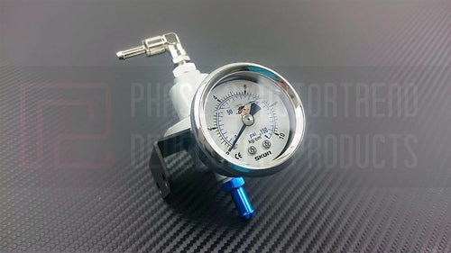 P2M Phase 2 FPR Fuel Pressure Regulator W/ Gauge Version 2.5 150 PSI - Universal