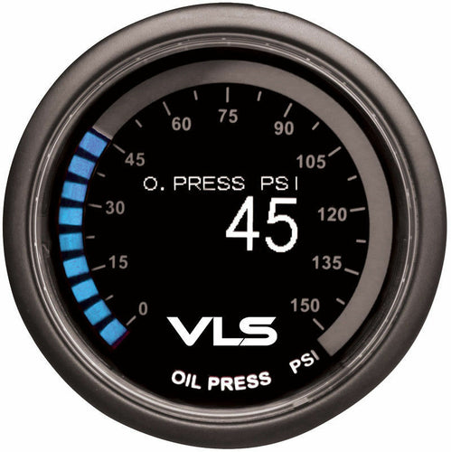 Tanabe Revel VLS 52mm Digital OLED Oil Pressure Gauge Meter 0~150 PSI