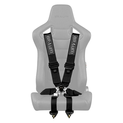 "BRAUM Racing 6 Point 3"" FIA Certified Racing Single Harness - BLACK"