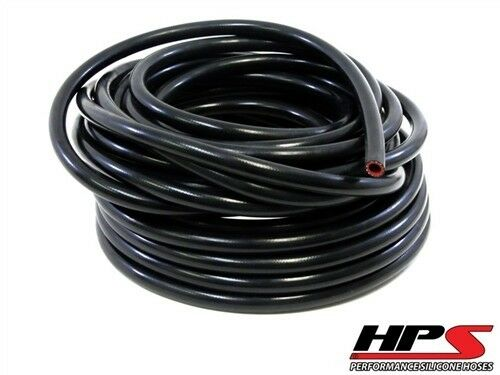 "1 Feet HPS 1/4"" 6mm High Temp Reinforce Silicone Heater Hose Tube Coolant - Black"