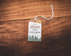 Let Love Grow Tree Favor Tag