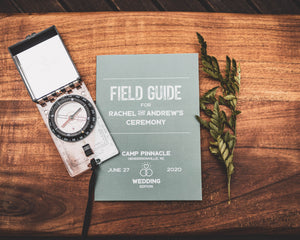 Field Guide Wedding Program