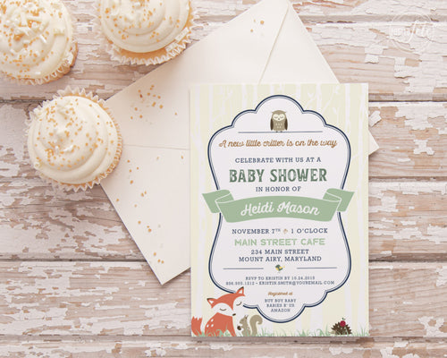 A little critter is on the way baby Shower Invitation