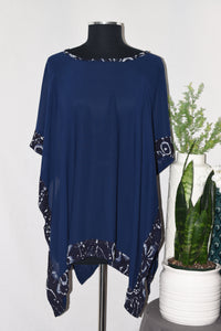 Navy Sheer Cover-Up