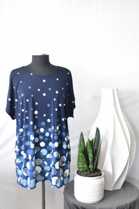 Model Navy Polka Dot Top