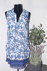 Papillon Sleeveless Collared Dress
