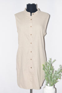 DKR Button Up Dress W/Pockets