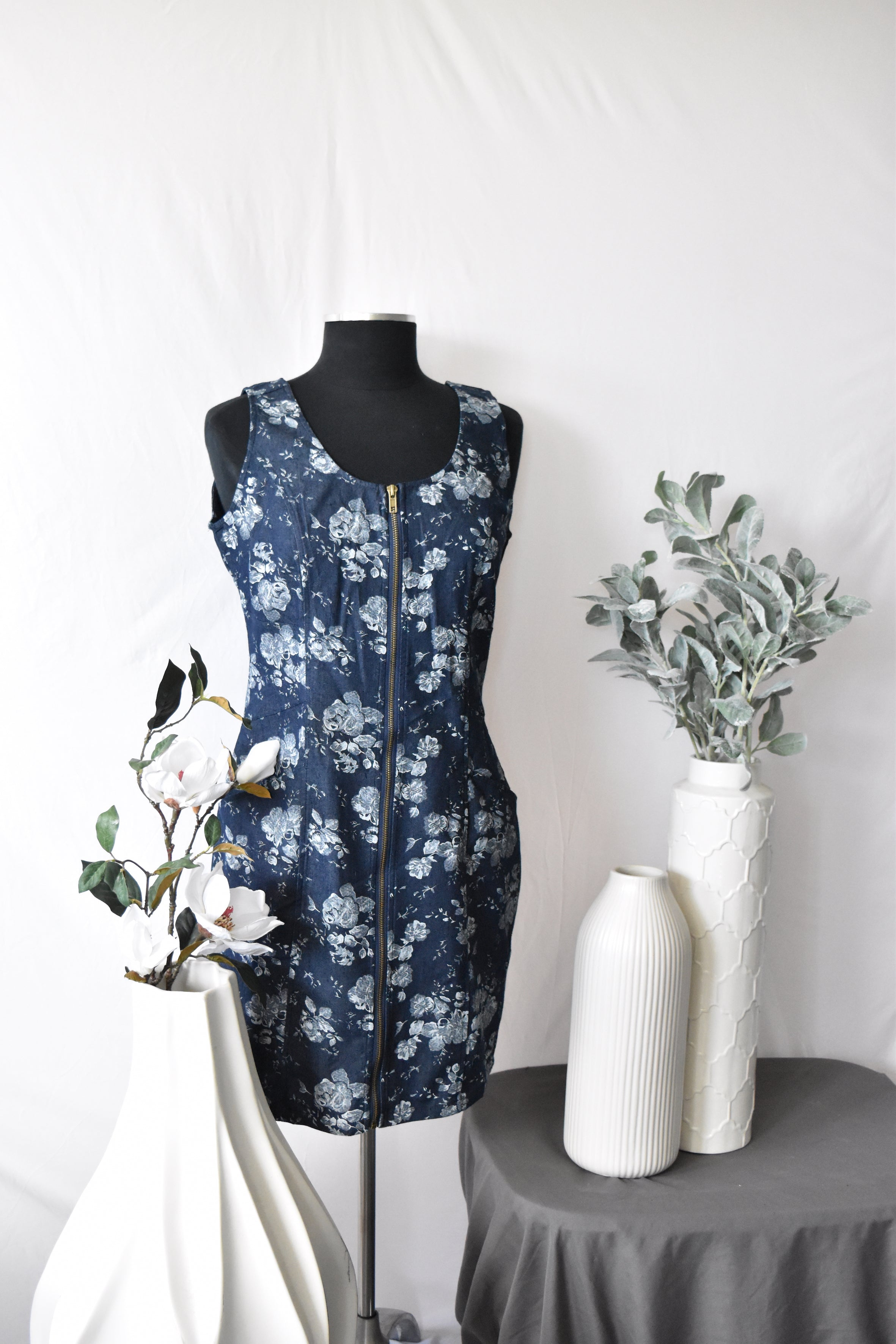 Papillon Navy Jean Dress