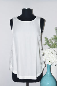 DKR Top With Side Seam Button Detail