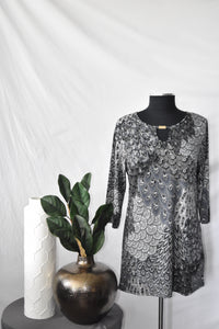 Creation Grey Pattern Top