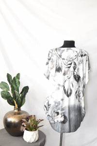 Model Grey Leaf Blouse