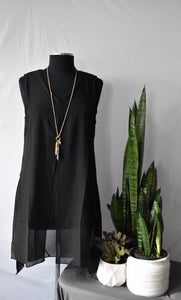 Creation Classic Black Top with Overlay