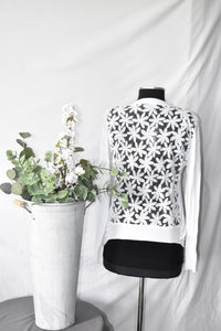 Papillon White Short Cardigan
