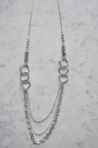 Merx Fashion Necklace Shiny Silver