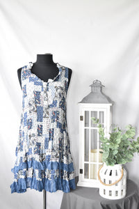 Papillon Paisly Ruffle Dress
