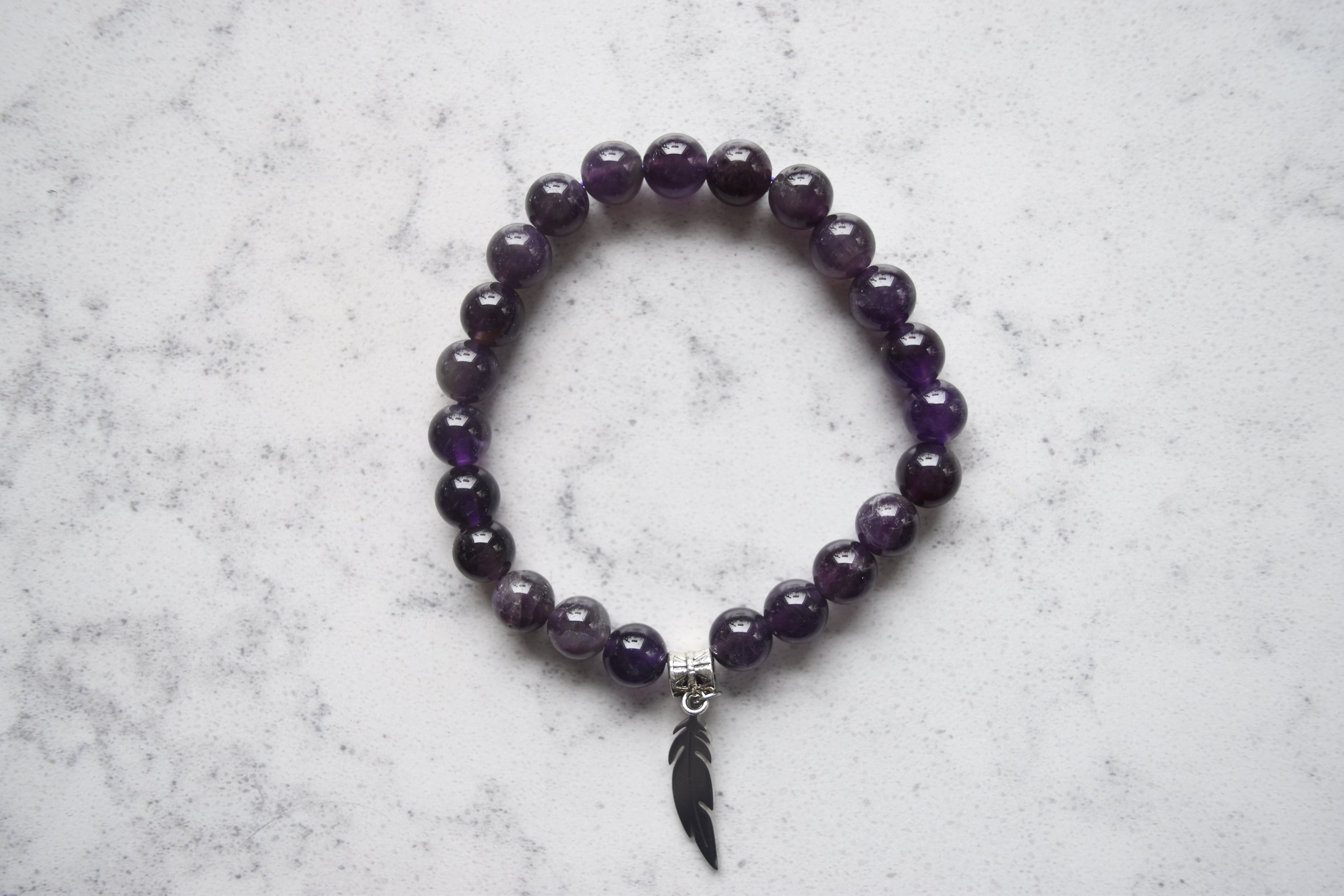 Bracelet-Amethyst Feather