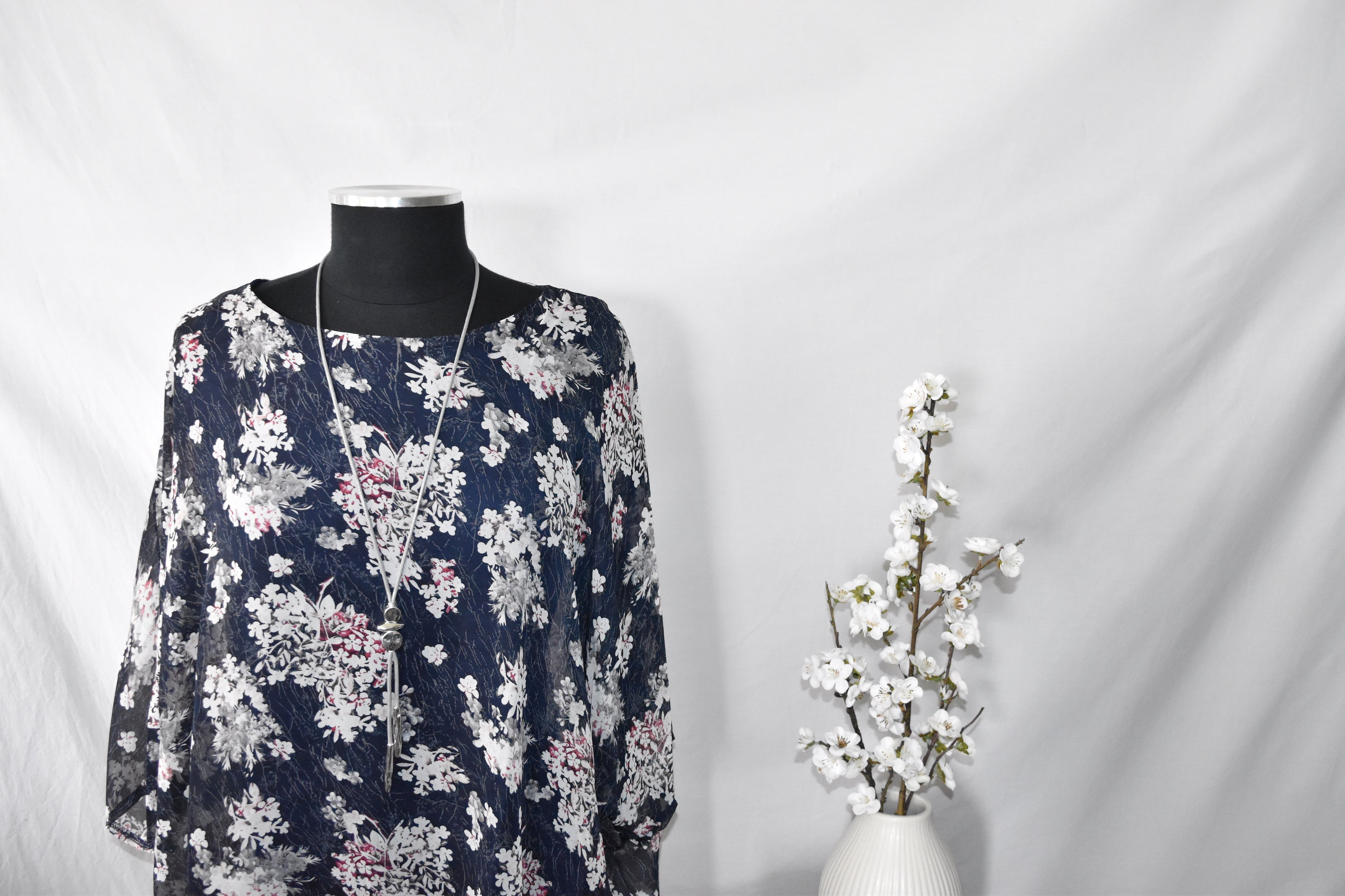 Creation Navy Floral Blouse