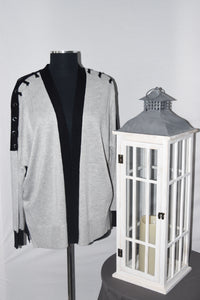 Black Tape Cardigan (Grey/Black)