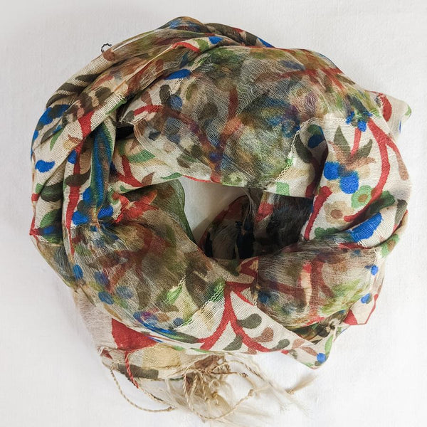 Why Buy from Nepal: Gossamer Silk Scarves